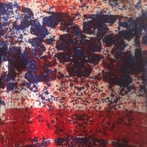 Flag leggings with the red white and blue